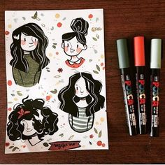 Drawing On Creativity - Drawing On Demand Posca Marker, Marker Art, Pretty Art, Cute Art, Character Art, Character Design, Posca Art, Arte Sketchbook, Guache