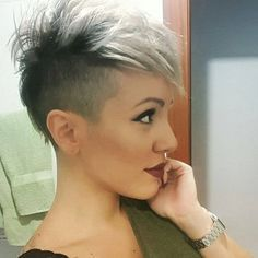 Image result for photos of undercut pixie