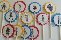 Beyblade Metal Fury Cupcake Toppers via Etsy