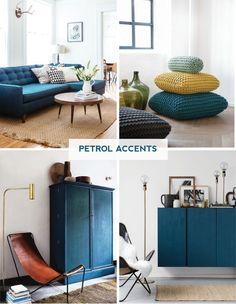 Wohnzimmer Petrol petrol farbe als wandfarbe und deko color inspiration living