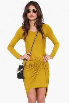 Almost There Dress in Mustard | Necessary Clothing