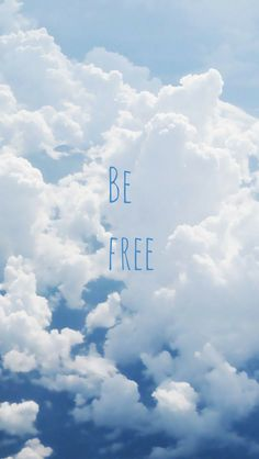 ↑↑TAP AND GET THE FREE APP! Art Creative Sky Clouds Quote Freedom Blue White HD iPhone 5 Wallpaper