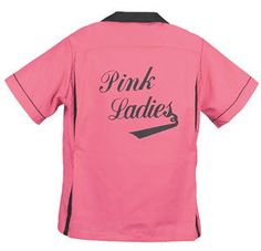 Pink Ladies From Grease The Movie Pink Ladies Grease, Bowling Shirts, Pretty In Pink, Vintage Shops, Pink Purple, Retro Fashion, T Shirts For Women, Grease 2, Lady