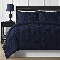 #NEW DESIGN DOUBLE-NEEDLE DURABLE STITCHING P&R Bedding 3 Piece Luxurious Pinch Pleat Comforter Set (King, Navy Blue) P&R Bedding http://www.amazon.com/dp/B01574KZD0/ref=cm_sw_r_pi_dp_ms7cxb0XBTWMV