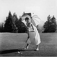 Golfing Audrey Hepburn