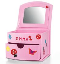 Customizable Jewelry Box- Dual-compartment box with pull-out drawer. Includes stickers so kids can customize and make it special.  Regularly $14.99, buy Avon Kids online at http://eseagren.avonrepresentative.com