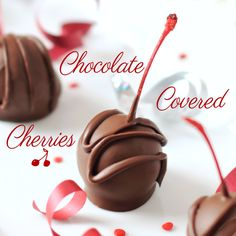 Chocolate Covered Cherries - so easy and way better made at home! #chocolate #cherries #homemade #Christmas #goodies #holiday