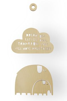 Dream big little one mobile, wall decoration.