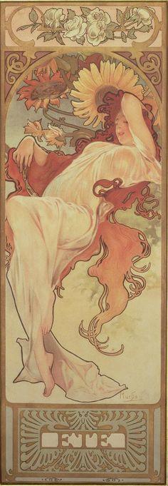 The Seasons: Summer (1897)  Alphonse Mucha
