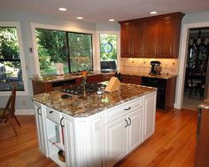 Granite top, maple cabinets  Newcreationshomeimprovements.com