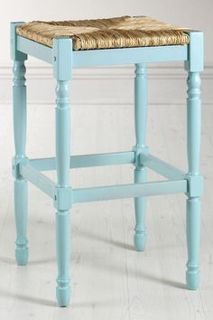 A very cute bar stool option for the kitchen (idea courtesy of Kelli).  Too expensive, but maybe I can find a knock-off or one I can paint myself.