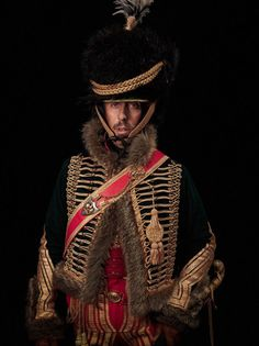 Waterloo Bi-Centennial Re-enactor, 7th French Hussards