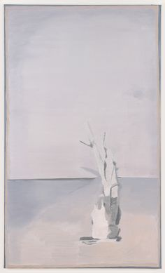 Luc Tuymans Die Blaue Eiche , 1998 Oil on canvas 69 3/10 × 41 3/10 in 176 × 105 cm