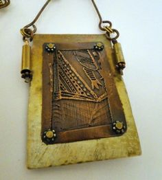 2/9/2014 10:30am - 6:00pm Debora Mauser Etched Pendant and Chain
