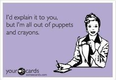 puppets and crayons