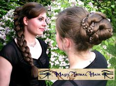 FANTASY BRAID & CHIGNON updo hair fall C U S T O M  C O L O R Reenactment Larp braid extension 20''/ 50 cm Renaissance renfair hair piece by MagicTribalHair on Etsy https://www.etsy.com/listing/154711971/fantasy-braid-chignon-updo-hair-fall-c-u
