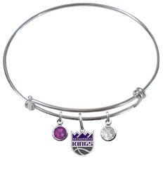 Sacramento Kings NBA Expandable Wire Bangle Charm Bracelet – SportsJewelryProShop