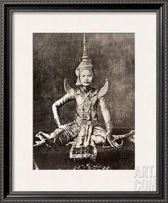 Siam: Dancer, C1870 Framed Photographic Print at Art.com