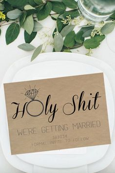 Wedding, Save The Date, DIY Printable Invitation, Engagement, Print at Home, Invite, Shit Just Got Real, Holy Shit, Rustic, Fun, Unique by cookiesandry on Etsy https://www.etsy.com/listing/207923594/wedding-save-the-date-diy-printable