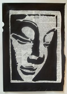 "buddha silhouette | ... Indian ink Buddha silhouette with only the word ""Buddha"" circled"