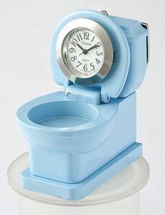 Blue Mini Toilet Desk Clock