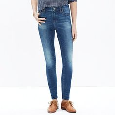 """<b>Risk-Free Jeans: Free shipping and returns on all jeans, all the time. </b>Lean and sexy with a 9"""" rise (right in '70s rock-muse territory), the High Riser's legs-for-days look and supersleek effect come from using some of the best denim in the world. <ul><li>Sit slightly above hip."""