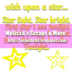 Melissa's Scraps and More: Star Word Art