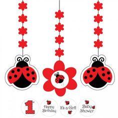 3 décorations à suspendre coccinelle pour l'anniversaire de votre enfant - Annikids