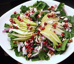 Pear & Pomegranate Christmas Salad.