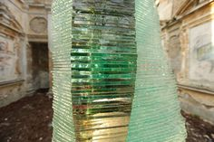 Fragment of a Layered Glass Sculpture Post Procella by Ernest Vitin Glass Design, Interior And Exterior, Bali, Glass Art, Sculptures, Layers, Decor, Layering, Decoration