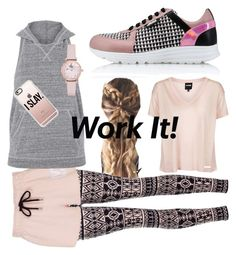 """""""Ivy Slays"""" by lmello on Polyvore featuring Karl Lagerfeld, Topshop, Ivy Park, Casetify and Emporio Armani"""