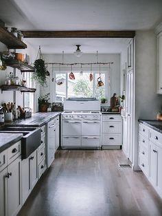 cozinha branca vintage