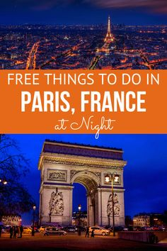 When your budget is maxed out from a busy day of visiting the finest attractions in Paris, spend a free night out in enjoying these great destinations! Paris France Travel, Paris Travel Tips, Europe Travel Guide, Asia Travel, Budget Travel, Travel Ideas, Canadian Passport, Paris At Night, Beautiful Paris
