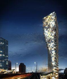 Projeto futuro: Vancouver House (Canadá) / BIG. Imagem © BIG