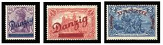 1920 Grosse Innendienst (internal service) 60pf, 1M and 2M set of three, h.r., fine-v.f. and post office fresh, each stamp signed Richter, with 2013 Rudiger Soecknick certificate (Mi.47-49) --- $1,500.00  2013year