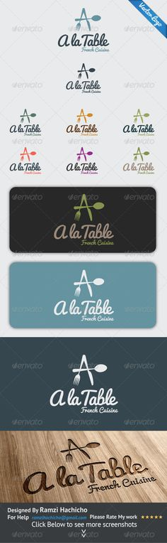 personalize the symbol.   Logo is modern & Elegant   It could be used for a restaurant, catering, cooking.   Name