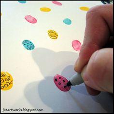 jaeartworks: fingerprint easter eggs