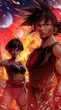Bardock and Celipa by Kanchiyo on DeviantArt Dbz, Dragon Ball Z, Z Wallpaper, Anime Art, Manga Anime, Graphic Novel Art, Dragon Images, Aesthetic Anime, Martial