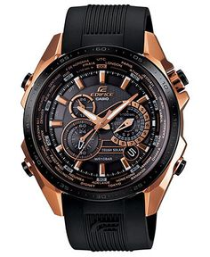 Casio Edifice Black X Rose Gold Relojes hombre Amazing Watches, Cool Watches, Latest Watches, Fossil Watches, Men's Watches, Stylish Watches, Luxury Watches For Men, Relogio Casio Edifice, G Shock Watches