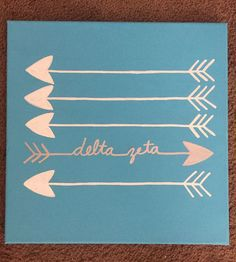 Delta Zeta canvas for my little