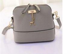 Moderní kožená kabelka pro ženy šedivá - dámské kabelkyPošta Zdarma