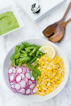 Everyone loves a cold, corn salad recipe! For your next summer potluck or picnic, enjoy Quinoa Radish Corn Salad Recipe with Green Goddess Dressing! Corn Salad Recipes, Corn Salads, Summer Potluck, Summer Salads, Green Goddess Dressing, Vegetable Sides, Summer Recipes, Quinoa, Picnic