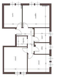 Piantina casa 100 mq case unifamiliari nel 2019 case for Abitazione moderna