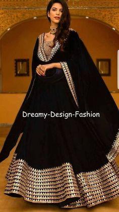Breathtaking Black Lehenga Inspirations You Gotta See Black Mirror Work Lehenga Designer Party Wear Dresses, Kurti Designs Party Wear, Lehenga Designs, Indian Designer Outfits, Designer Punjabi Suits, Designer Anarkali, Stylish Dress Designs, Stylish Dresses, Trendy Outfits