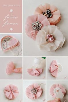 FabricLovers Blog: Almost No-Sew Fabric Flowers Tutorials