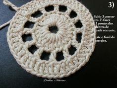 P.A.P (passo a passo) , do tapete; gente, faço parte de um grupo. E este tapete surgiu lá, por uma colega. A Cecília Rocha. Abrindo um parê... Crochet Motif, Crochet Doilies, Crochet Hats, Crochet Placemats, Diagram Chart, Crochet Earrings, Crochet Doily Rug, Wool Quilts, Doilies Crochet