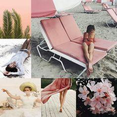 Pink, Beach, flowers, style