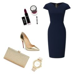 """""""Untitled #2"""" by slavka-jovic ❤ liked on Polyvore featuring Roland Mouret, Christian Louboutin, La Regale and Chico's"""