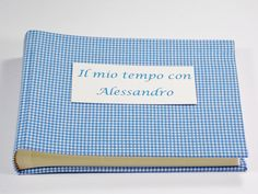 Baby photo album, kids photo album, photo album, photo book, Photo album for baptism, birth gift, the first birthday, blue gingham,