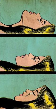 Crying girl, blonde, vintage,